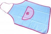 Apron with Pink / Blue Spots & Floral Design
