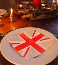Set of 20 Union Jack 3-Ply Napkins by Parlane