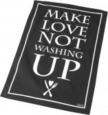 Black & White Tea Towel by Parlane (Make Love, not Washing Up)