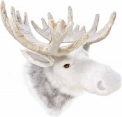 Artificial White Moose Head Ornament by Parlane